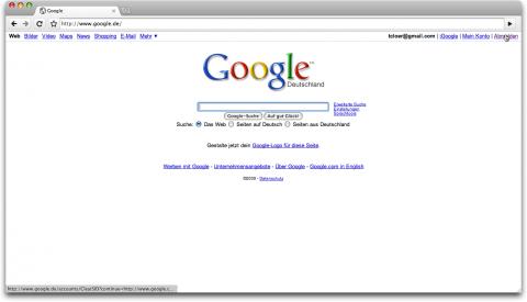 Google.de-Abmelde-Link in Chrome