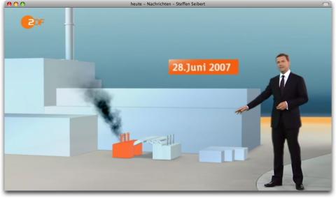 """""""heute"""": Steffen Seibert vor 3D-Krümmel"""
