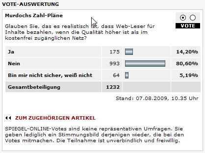 """Paid-Content Umfrage beim """"Spiegel"""""""