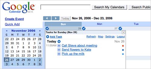 RTM im Google Kalender