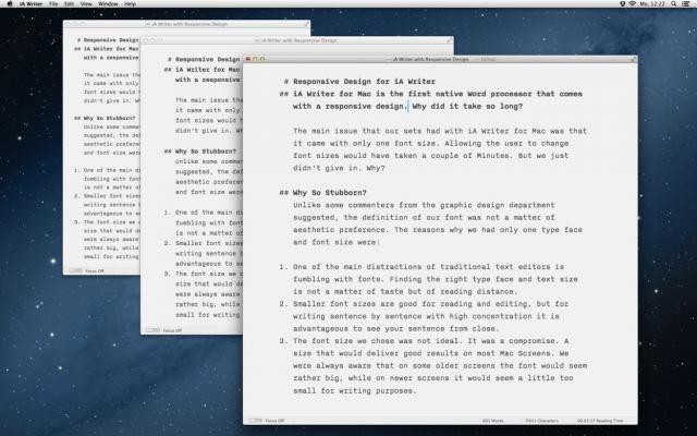 iA Writer responsive Design