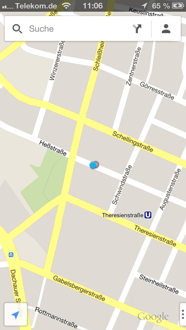 Google Maps iPhone 5