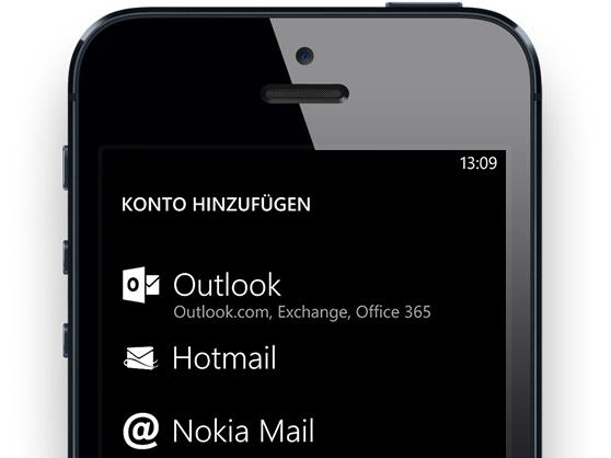 Mieses Mockup: iPhone mit WP8