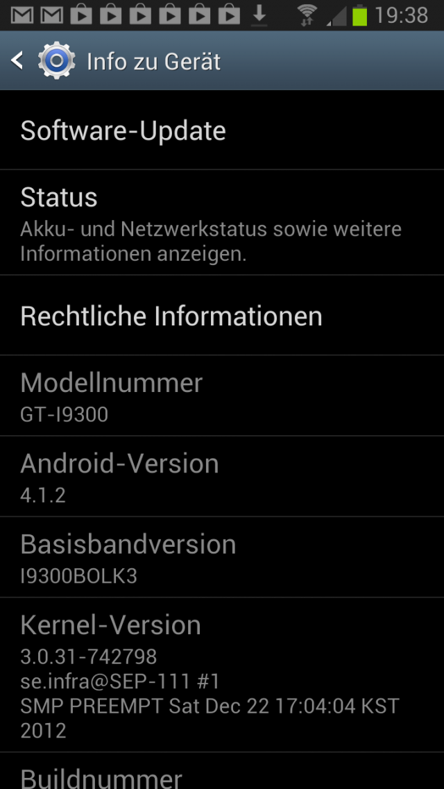 S III Android 4.1.2