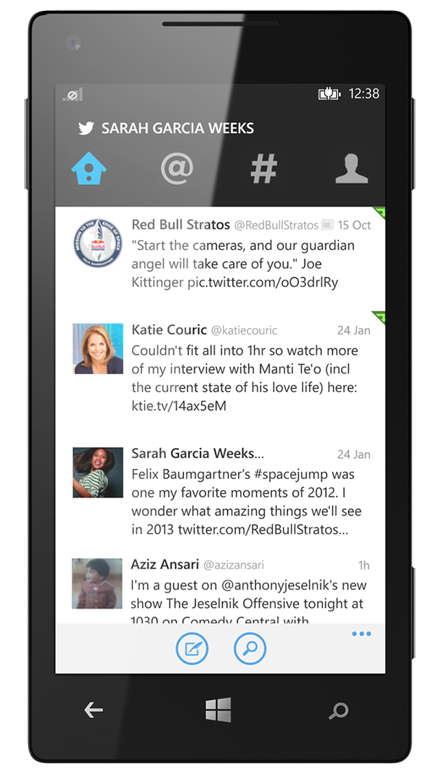 Twitter for Windows Phone Screenshot