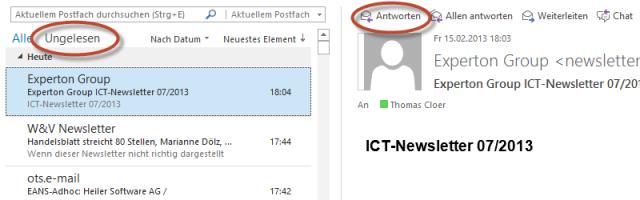 Outlook 2013 Screenshot