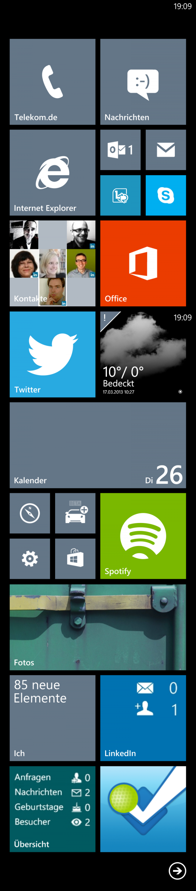Mein Windows-Phone-8-Homescreen