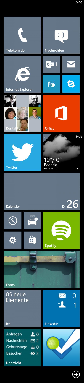 Mein Windows-Phone-8-Homescreen