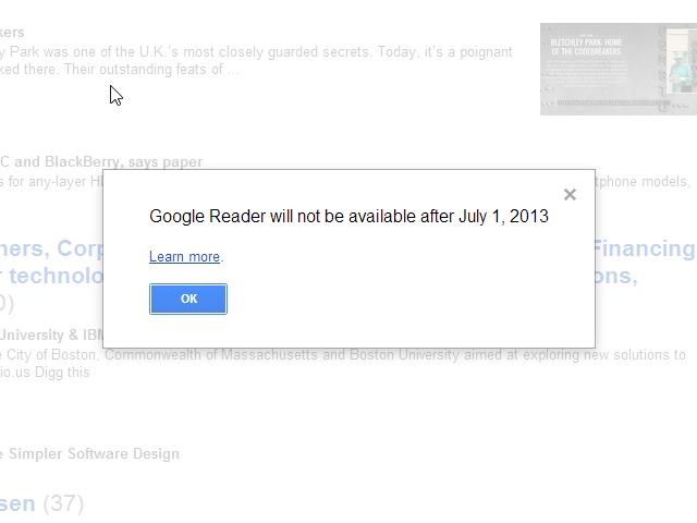 R.I.P. Google Reader