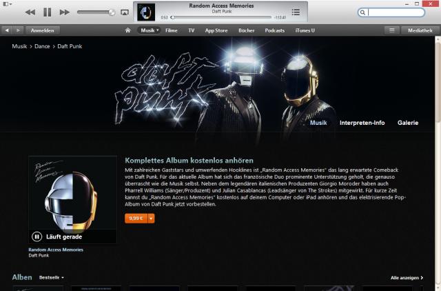Daft Punk bei iTunes