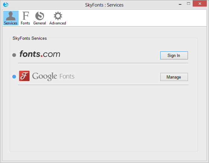 MT Skyfonts Google Screenshot