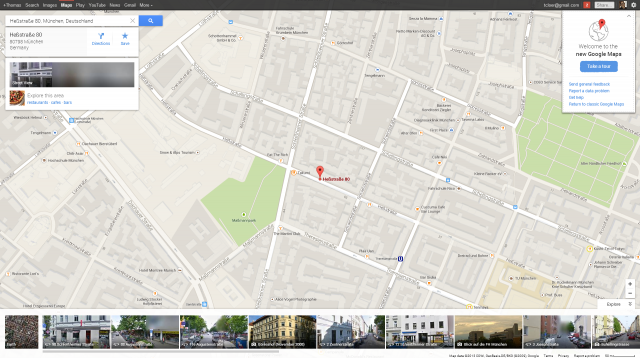 New Google Maps /w pixelated German Street View