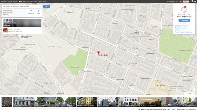 New Google Maps /w pixelated German Street View