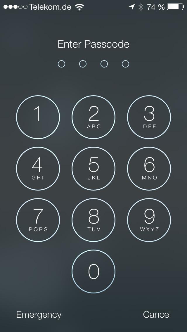 iOS 7 Beta 1 Lockscreen