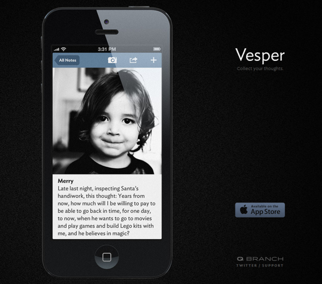 Vesperapp.co Screenshot
