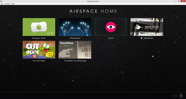 Leap Motion Airspace Screenshot