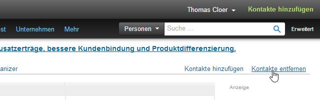 LinkedIn Kontakte Kontakte entfernen