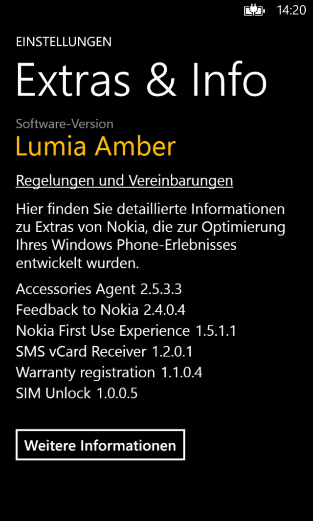 Extras & Info Amber