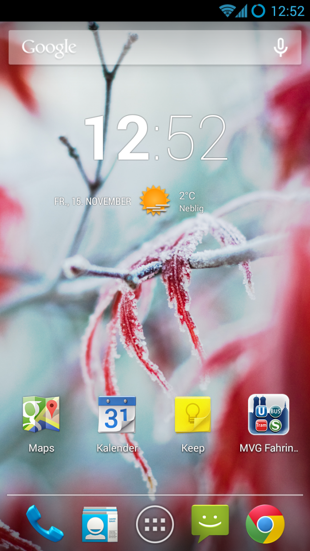 S III CM 10.2 Homescreen Screenshot