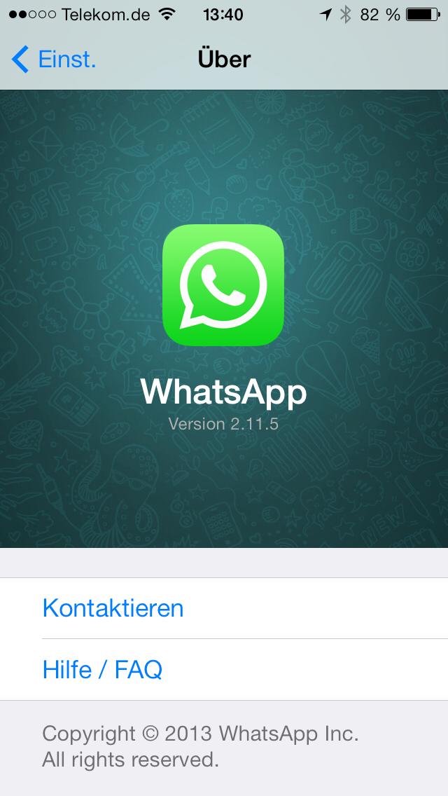Über WhatsApp 2.11.5