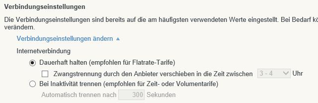 Fritz!Box Einstellungen Zeitfenster Zwangstrennung