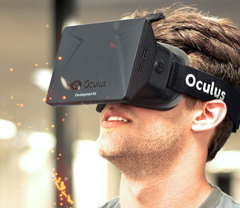 Oculus Rift vorm Kopf