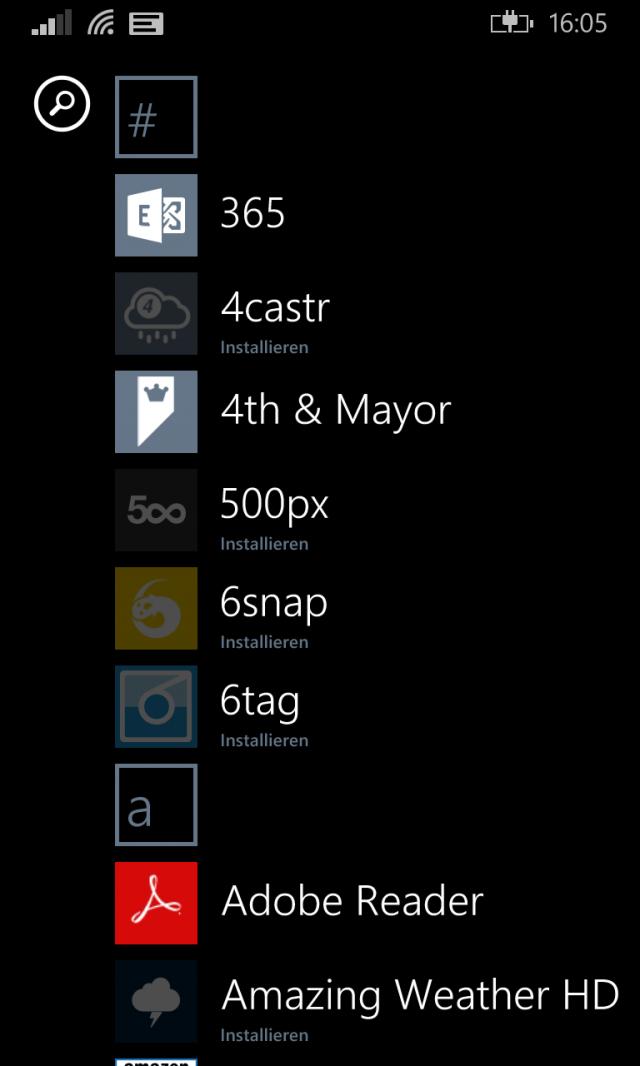 Apps-Download nach WP-8-1-Upgrade