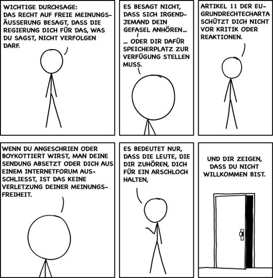 xkcd Meinungsfreiheit