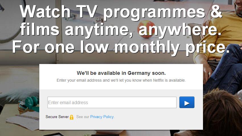 Netflix kommt nach Deutschland