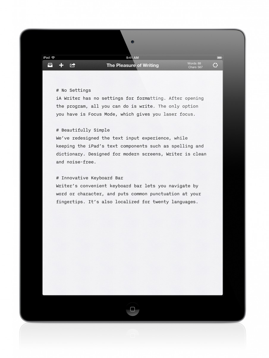 Writer für iPad Screenshot