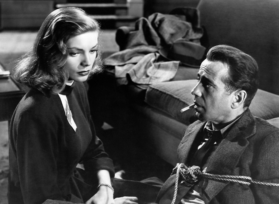 Lauren Bacall and Humphrey Bogart, scene from 'The Big Sleep'