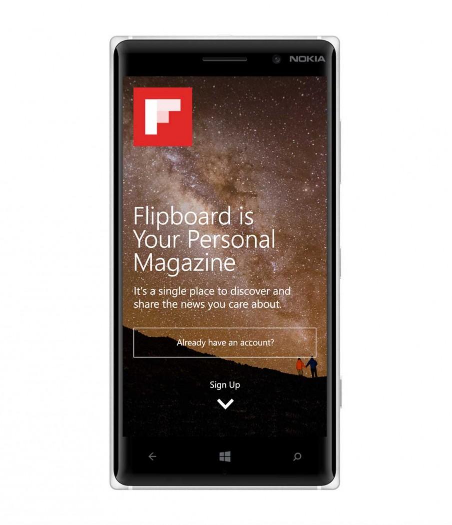 Nokia Lumia 830 mit Flipboard-App
