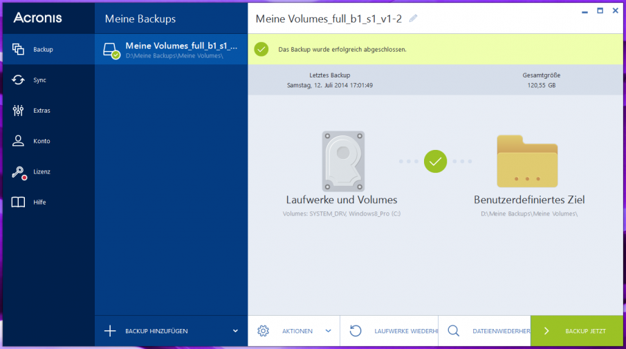 Acronis True Image 2015 Screenshot