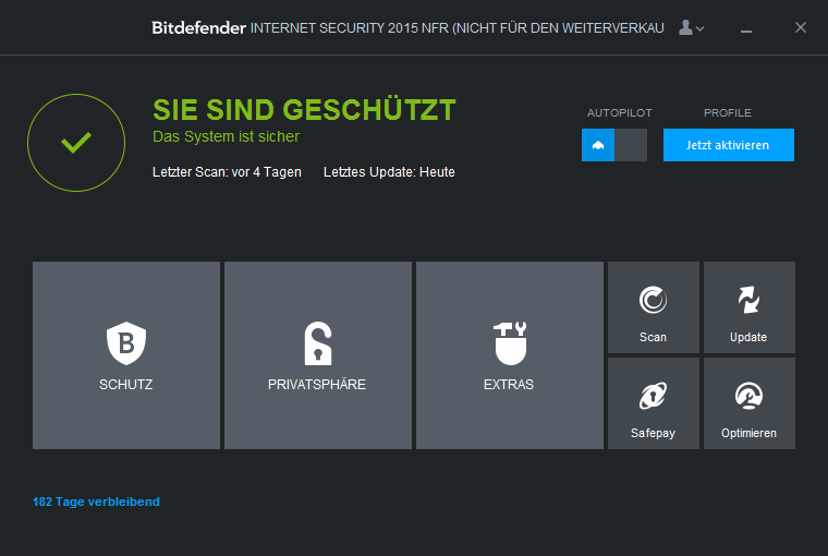 Bitdefender Internet Security 2015 Screenshot