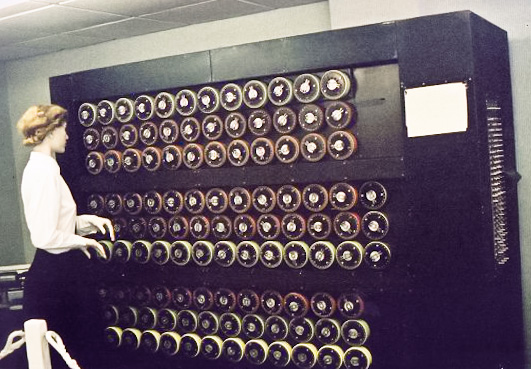 Author: Sarah Hartwell. Mockup of a bombe machine at Bletchley Park. Photographed & uploaded by self.