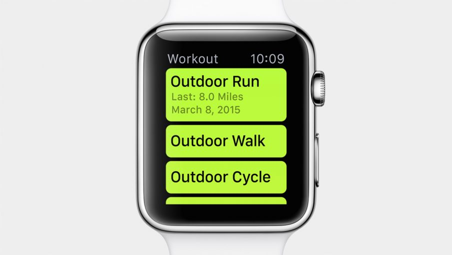 Workout-App auf der Apple Watch