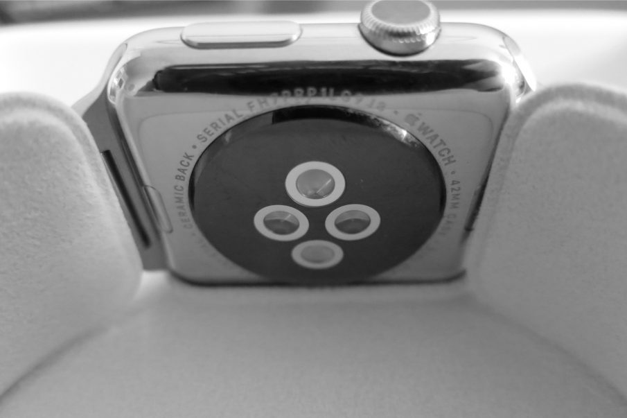 Apple Watch Rückseite, in Schachtel