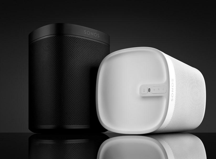 Sonos PLAY:1 Tone, schwarz und weiß