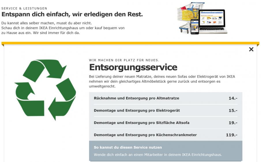 IKEA Entsorgungsservice