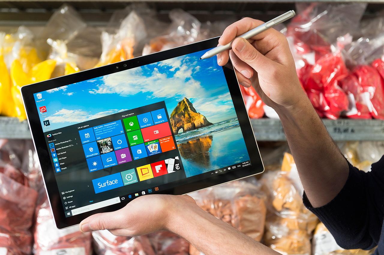 Surface Pro 4 mit Stift