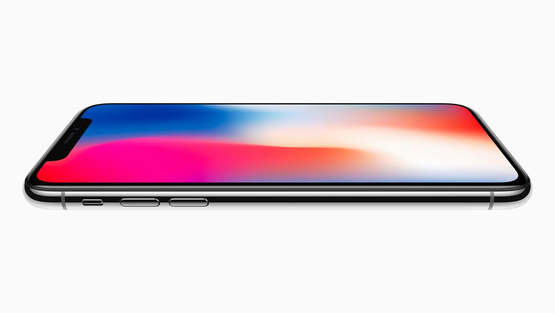 iPhone X seitlich flach
